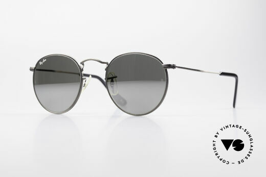 Ray Ban Round Metal 47 Mirrored B&L USA Sunglasses Details