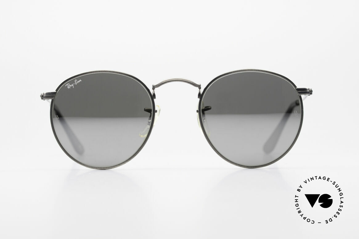 Ray Ban Round Metal 47 Mirrored B&L USA Sunglasses, a timeless classic in high-end quality; made in USA, Made for Men and Women