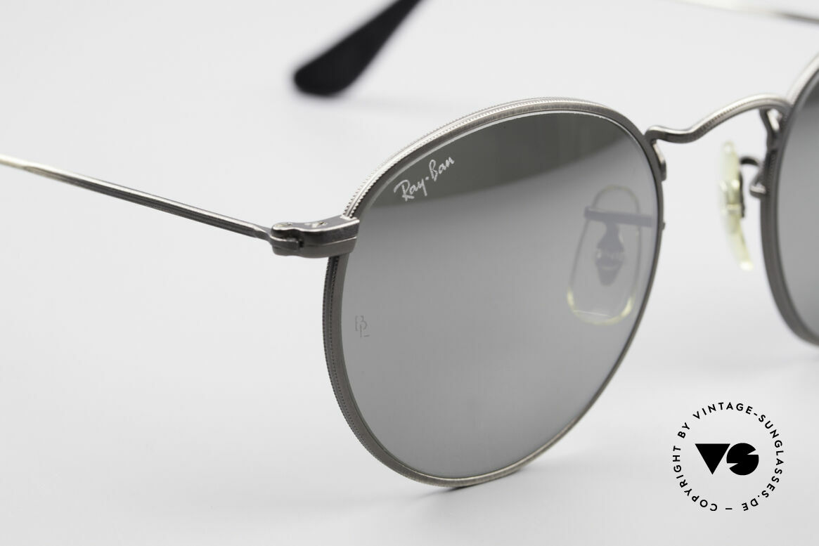 Ray Ban Round Metal 47 Mirrored B&L USA Sunglasses, NO RETRO EYEWEAR, but a rare old 1980's Original!, Made for Men and Women