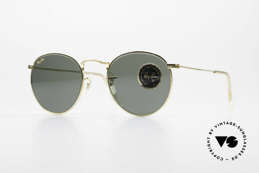 Ray Ban Round Metal 47 Small Round B&L Sunglasses Details