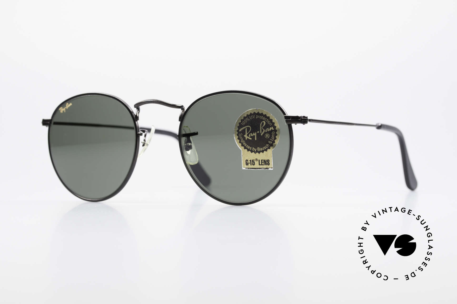 Ray Ban Round Metal 47 Small Round USA Sunglasses, small round 1980's Ray-Ban B&L vintage sunglasses, Made for Men and Women
