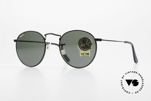 Ray Ban Round Metal 47 Small Round USA Sunglasses Details