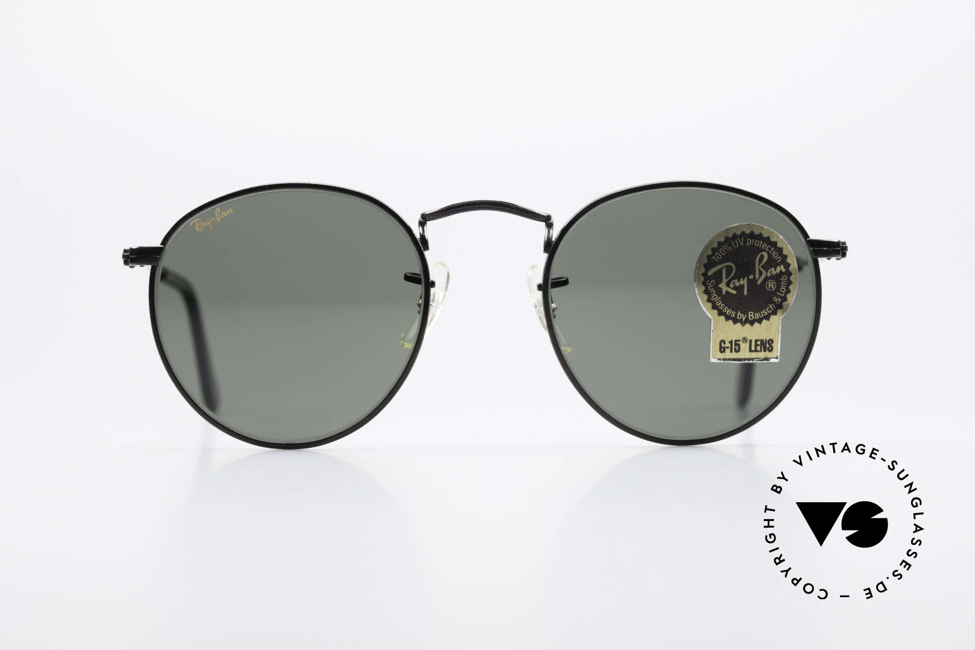 Ray Ban Round Metal 47 Small Round USA Sunglasses, a timeless classic in high-end quality; made in USA, Made for Men and Women