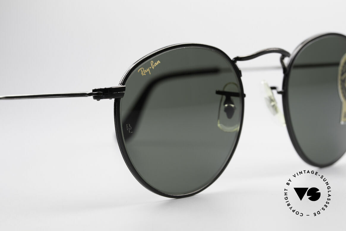Ray Ban Round Metal 47 Small Round USA Sunglasses, unworn Bausch&Lomb sunglasses + an old B&L case, Made for Men and Women