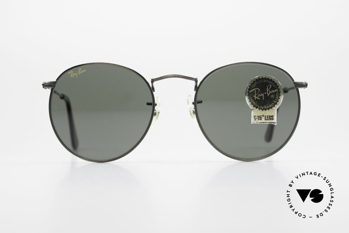 Ray Ban Round Metal 49 Round Vintage Sunglasses USA, a timeless classic in high-end quality; made in USA, Made for Men and Women