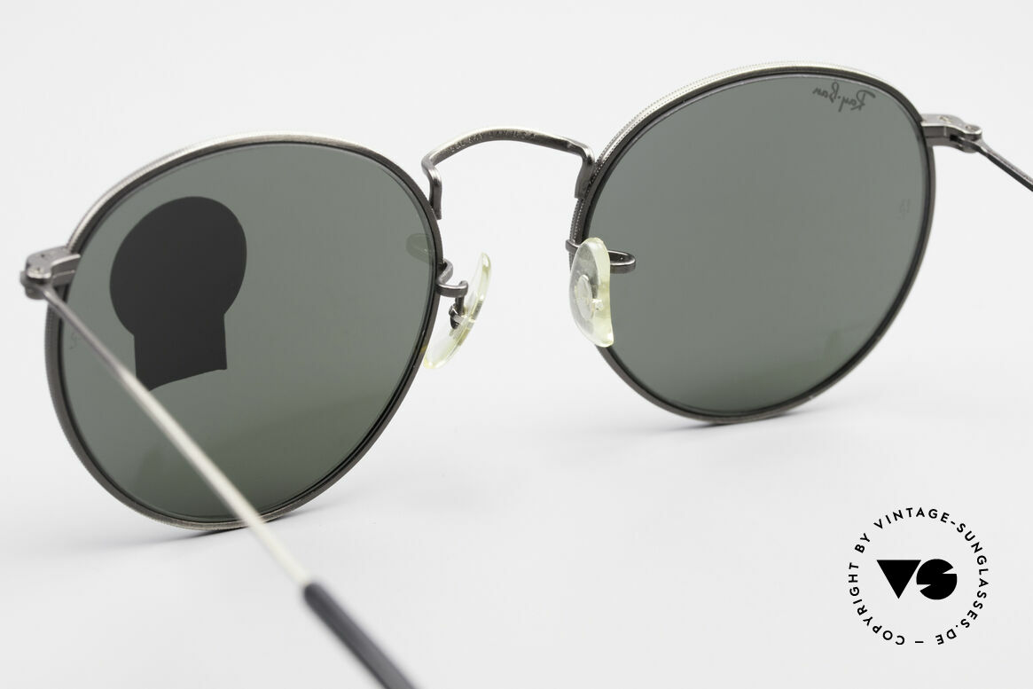 Ray Ban Round Metal 49 Round Vintage Sunglasses USA, NO RETRO EYEWEAR, but a rare old 1980's Original!, Made for Men and Women