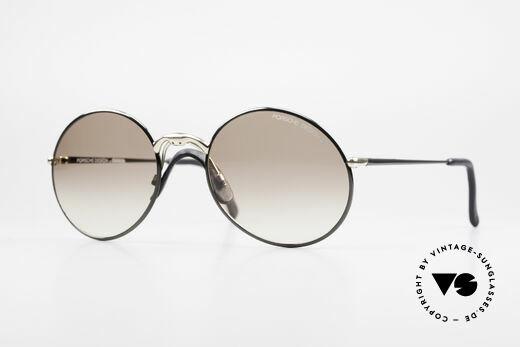 Porsche 5658 Round Vintage Sunglasses Men Details