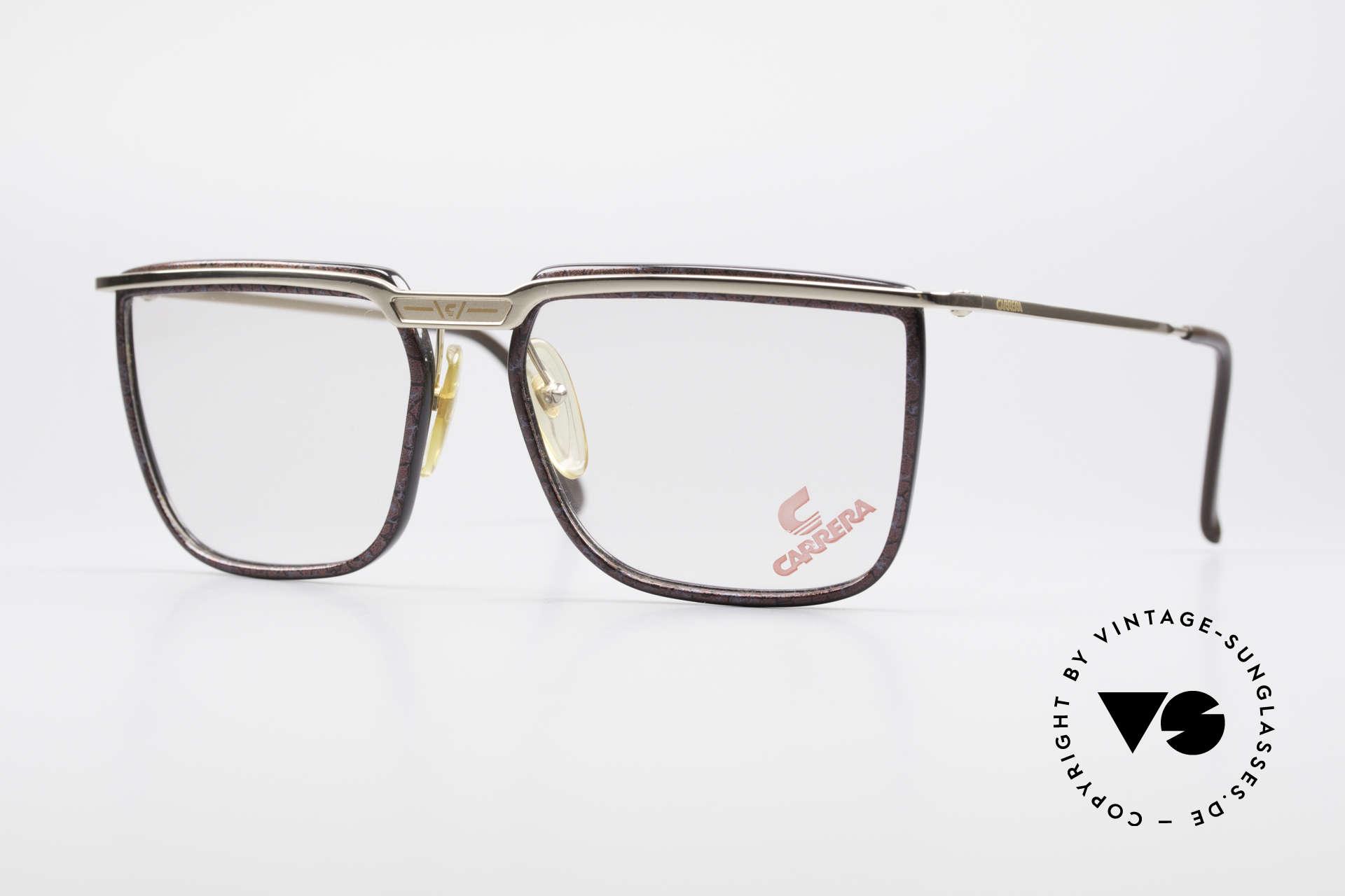 Carrera 5376 Square Vintage Carbon Frame, square vintage 90's CARRERA designer glasses, Made for Men