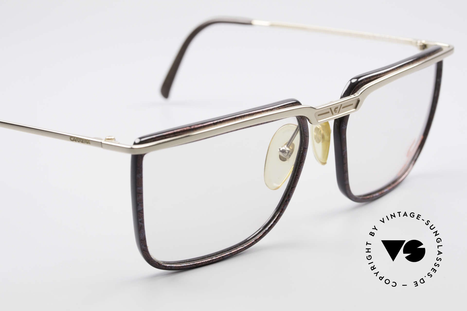 Carrera 5376 Square Vintage Carbon Frame, unworn model comes with a pouch by MOVADO, Made for Men