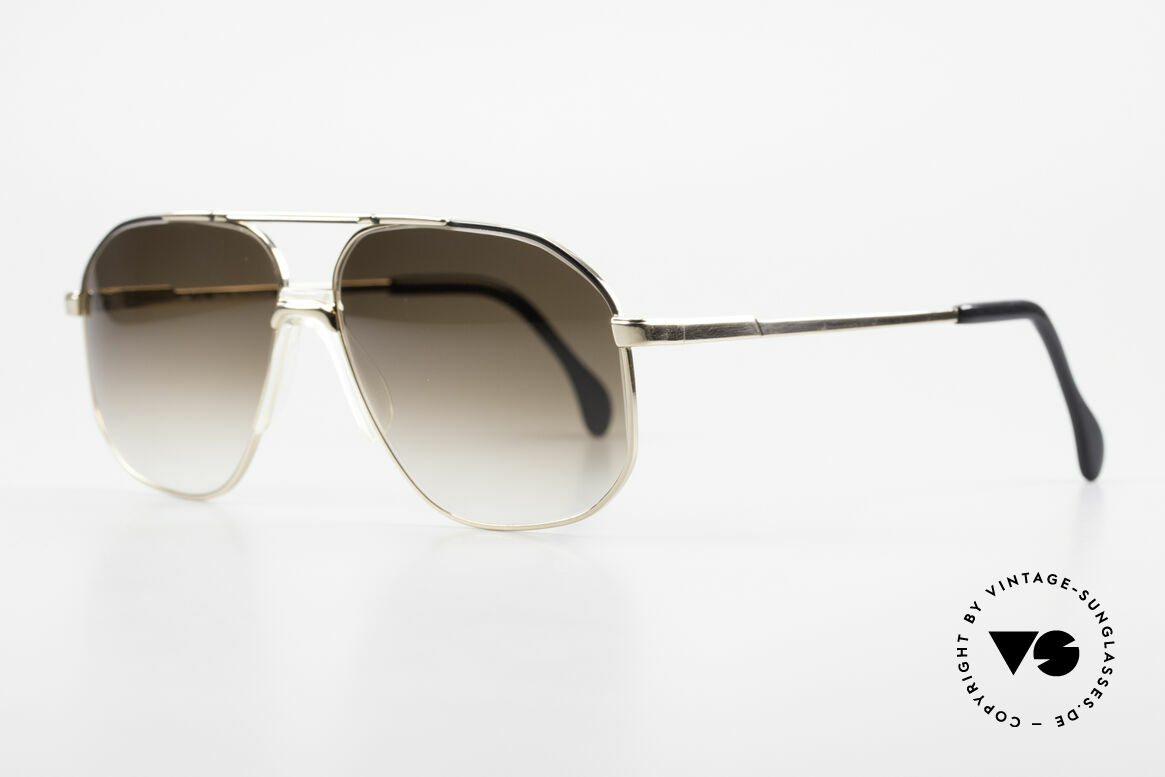 Zeiss 5906 Old 80's Quality Aviator Shades, new brown-gradient CR39 UVA/B400 plastic lenses, Made for Men
