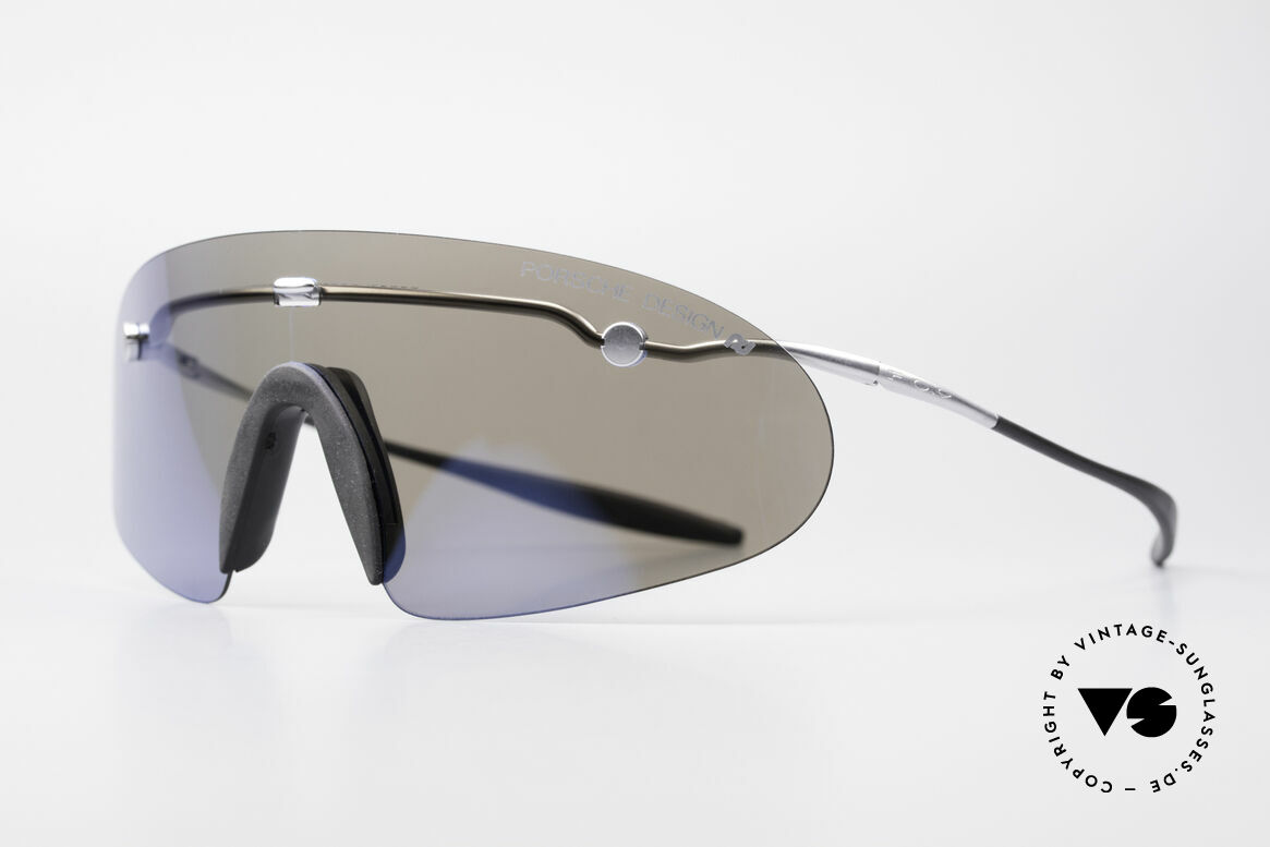 Porsche 5692 F09 Flat Shades Blue Mirrored, ingenious flat & compact, when folded (fits every pocket), Made for Men