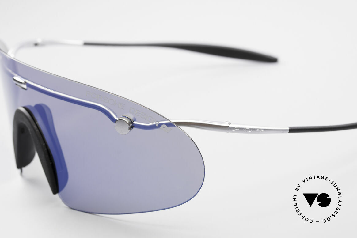 "Porsche 5692 F09 Flat Shades Blue Mirrored, with a slightly bluish MIRRORED lens = ""panorama view"", Made for Men"