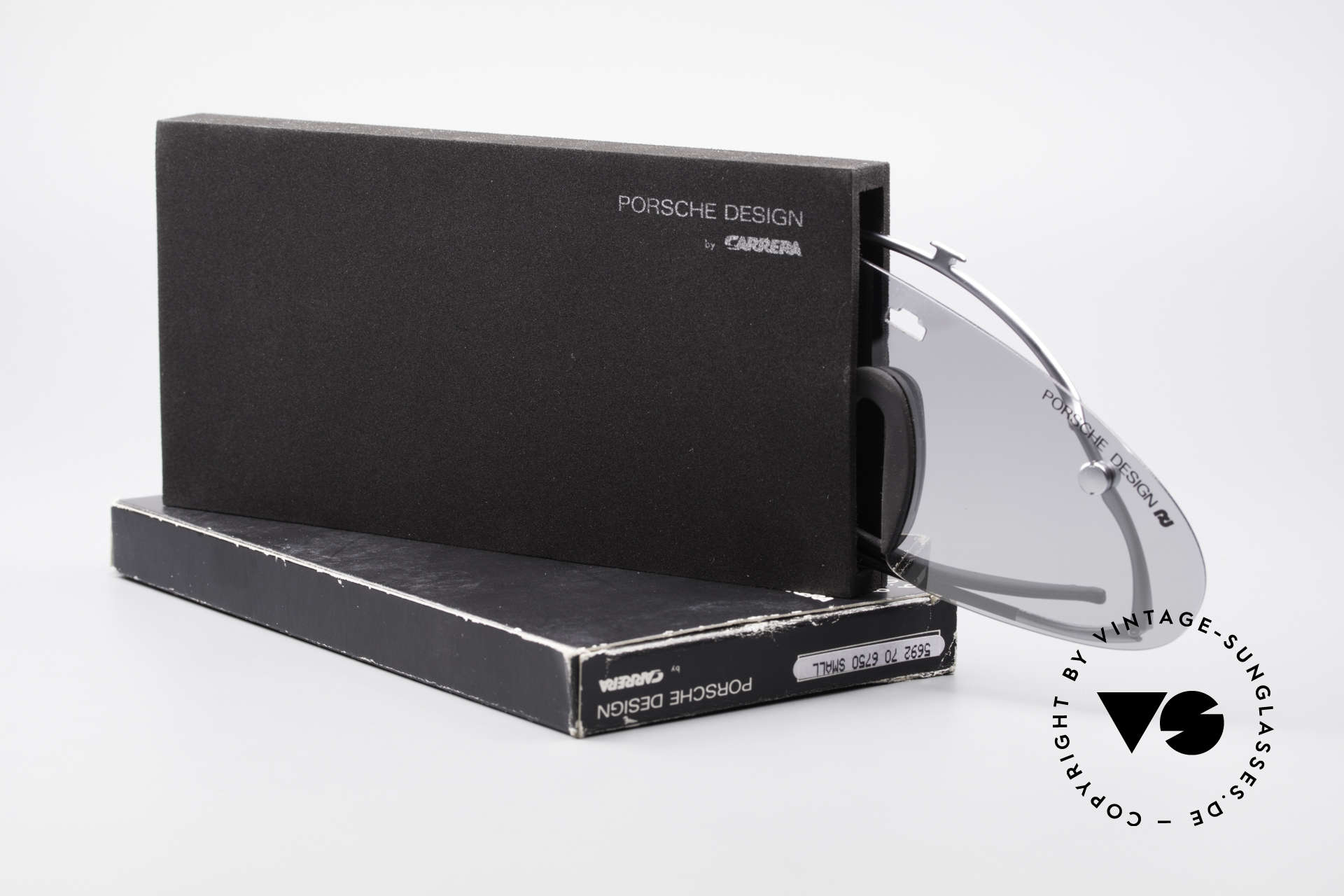 Porsche 5692 F09 Flat Shades Silver Mirrored, Size: medium, Made for Men