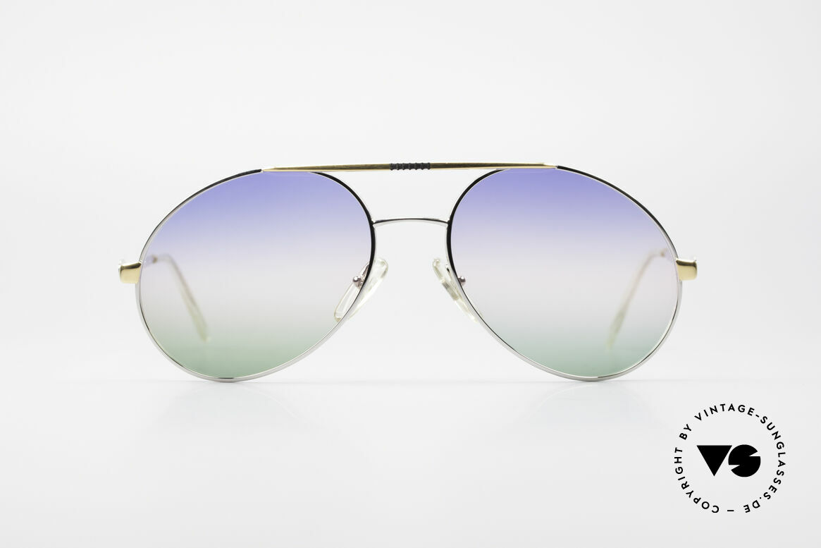 Bugatti 65982 Rare Vintage 80's Sunglasses, legendary Bugatti shape in high-end quality, Made for Men