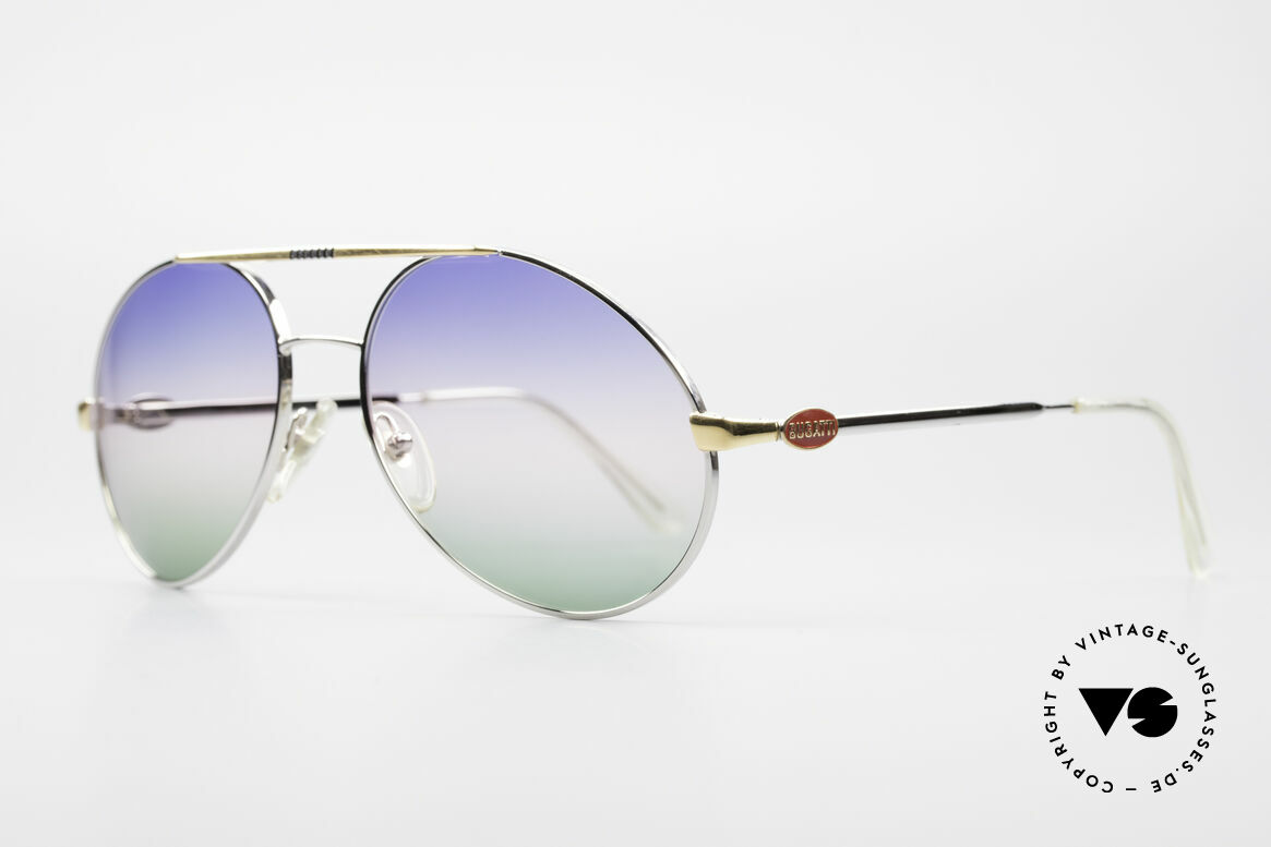 Bugatti 65982 Rare Vintage 80's Sunglasses, terrific combination of frame and sun lenses, Made for Men