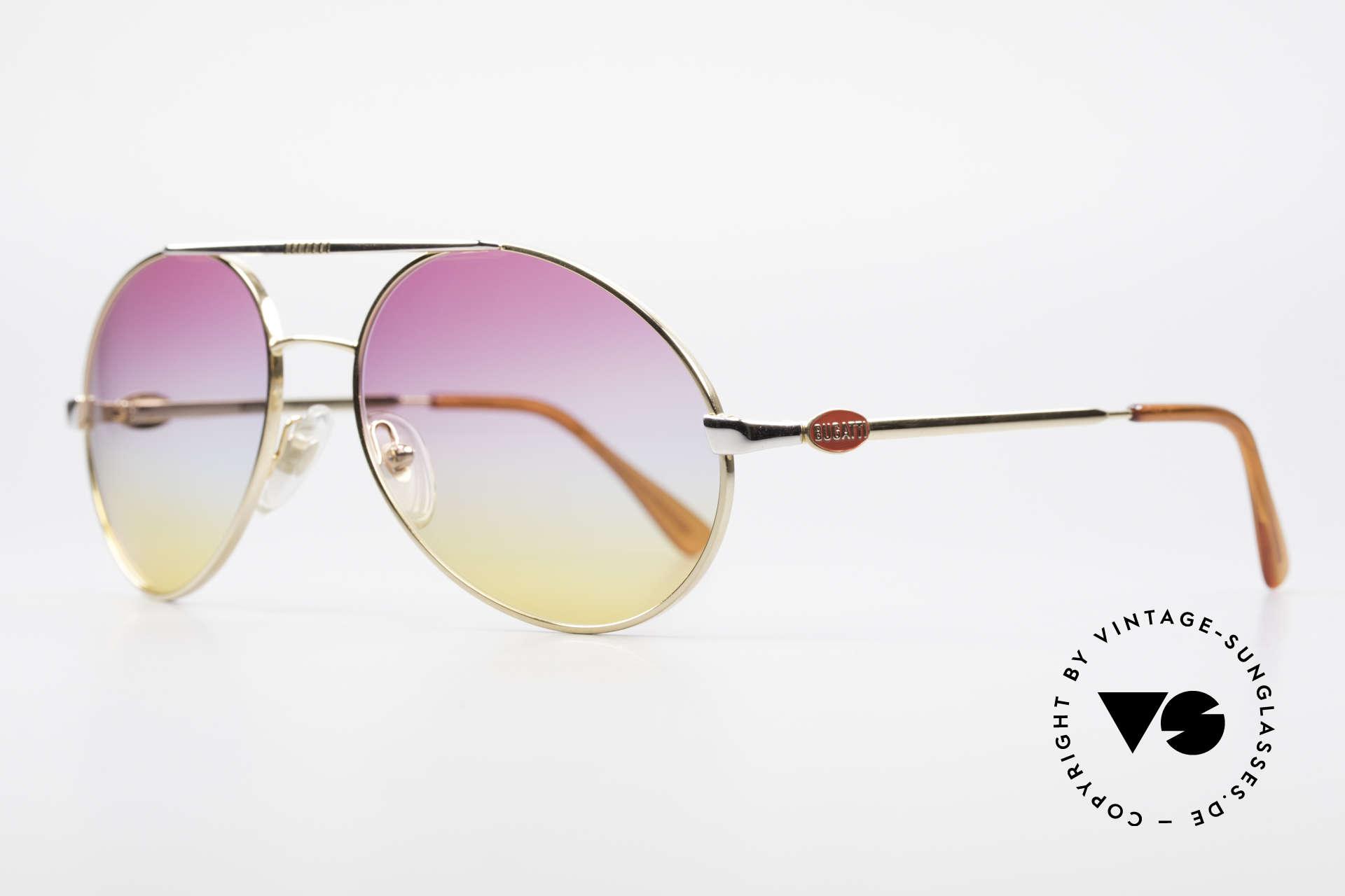 Bugatti 64320 Rare 80's Sunglasses Vintage, terrific combination of frame and sun lenses, Made for Men