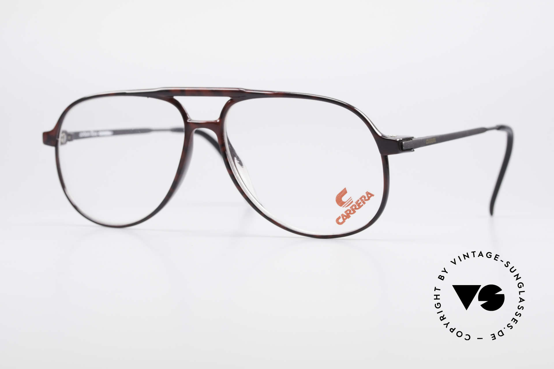 Carrera 5355 Carbon Fibre Aviator Frame, Carrera 5355 Carbon Fibre vintage 90's eyeglasses, Made for Men