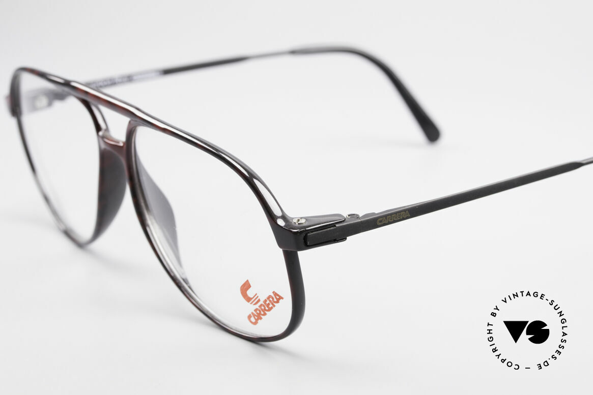 Carrera 5355 Carbon Fibre Aviator Frame, classic aviator eyeglass-design with double bridge, Made for Men