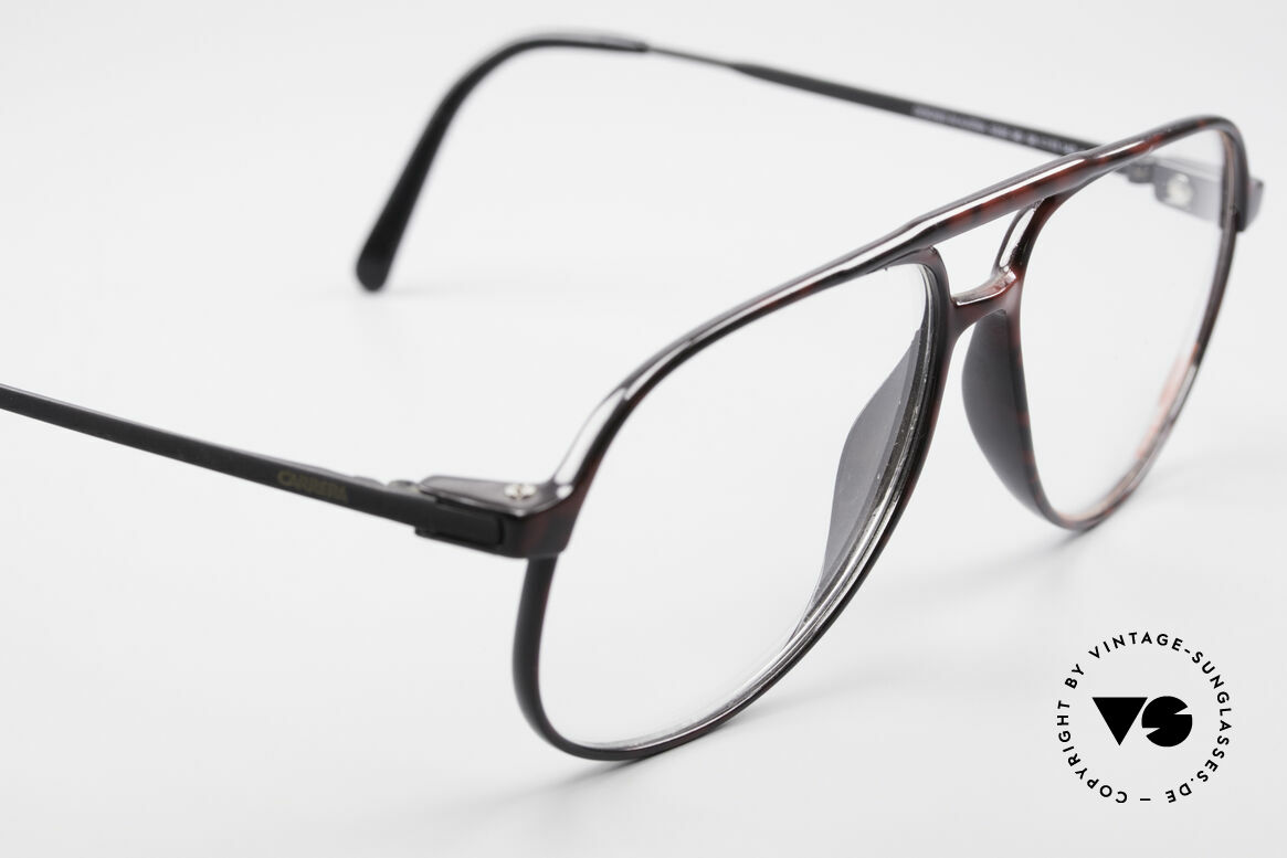 Carrera 5355 Carbon Fibre Aviator Frame, elegant coloring / pattern in a kind of 'root wood', Made for Men