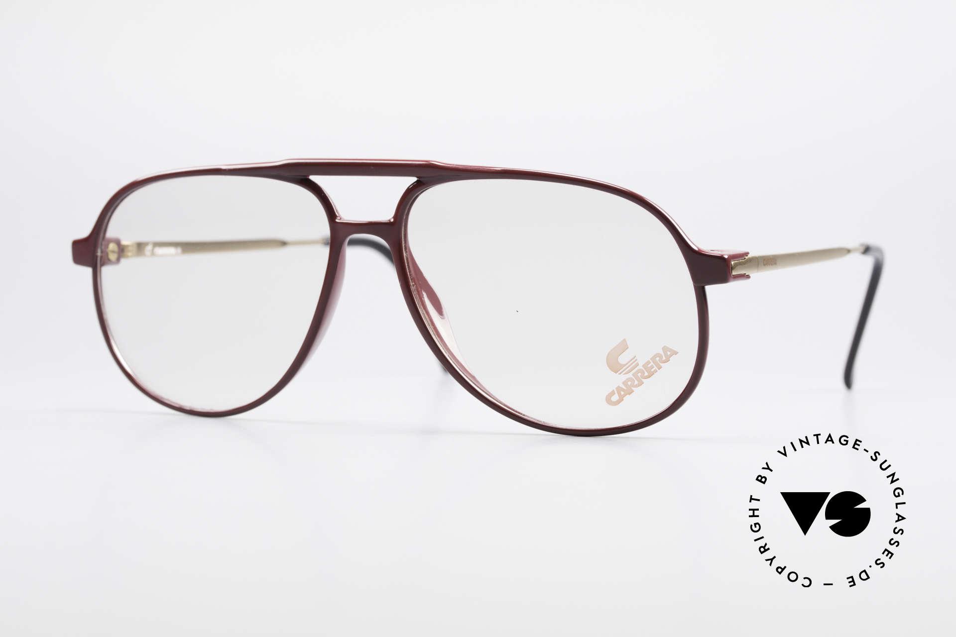 Carrera 5355 Carbon Fibre Aviator Glasses, Carrera 5355 Carbon Fibre vintage 90's eyeglasses, Made for Men