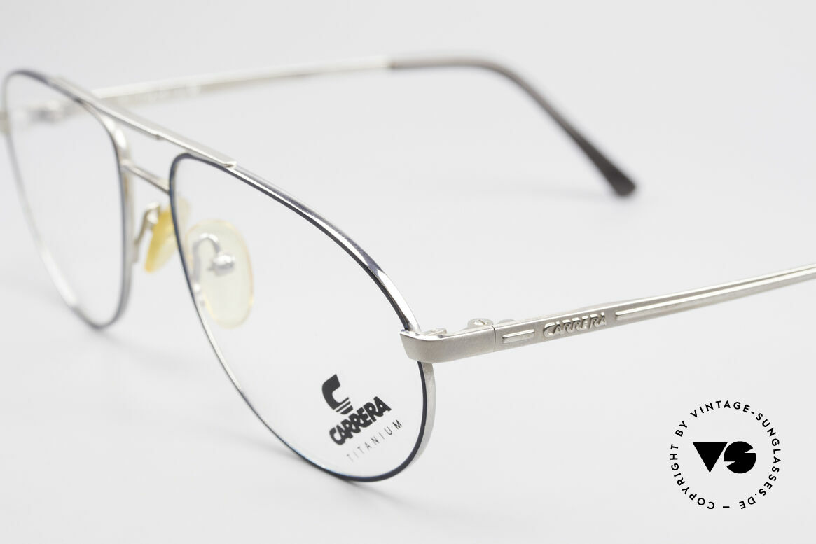 Carrera 5798 Titanium Vintage Eyeglasses, very noble frame finish with gray and BLUE metallic, Made for Men