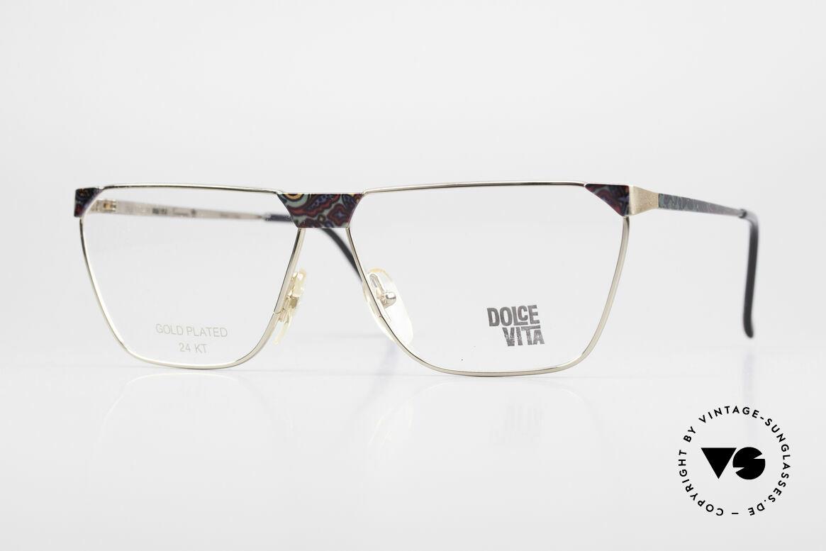 Casanova NM22 Dolce Vita 24kt Eyeglasses, vintage Casanova Dolce Vita glasses from app. 1985, Made for Men and Women