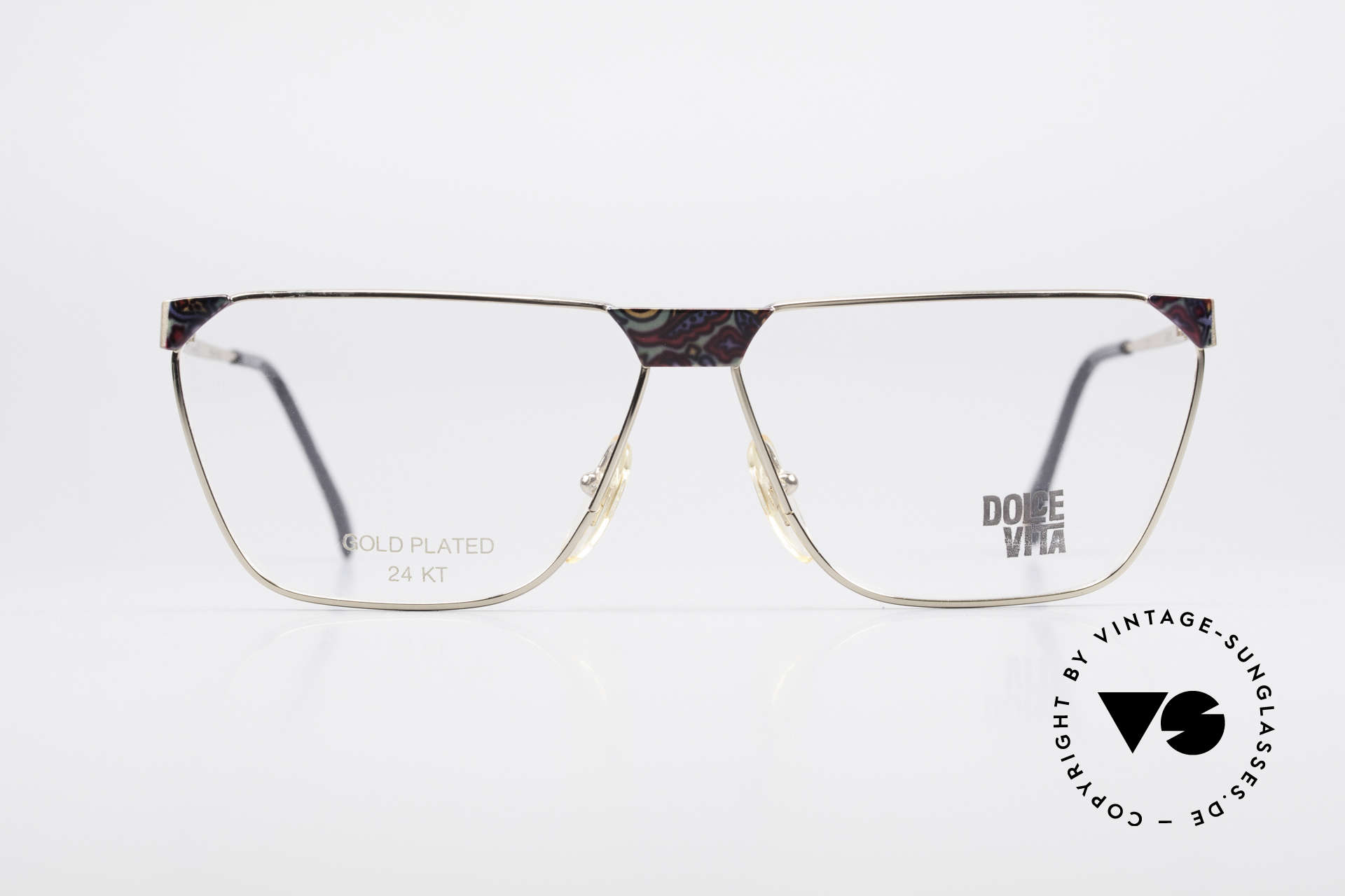 Casanova NM22 Dolce Vita 24kt Eyeglasses, gold-plated frame (a matter of course, at that time), Made for Men and Women