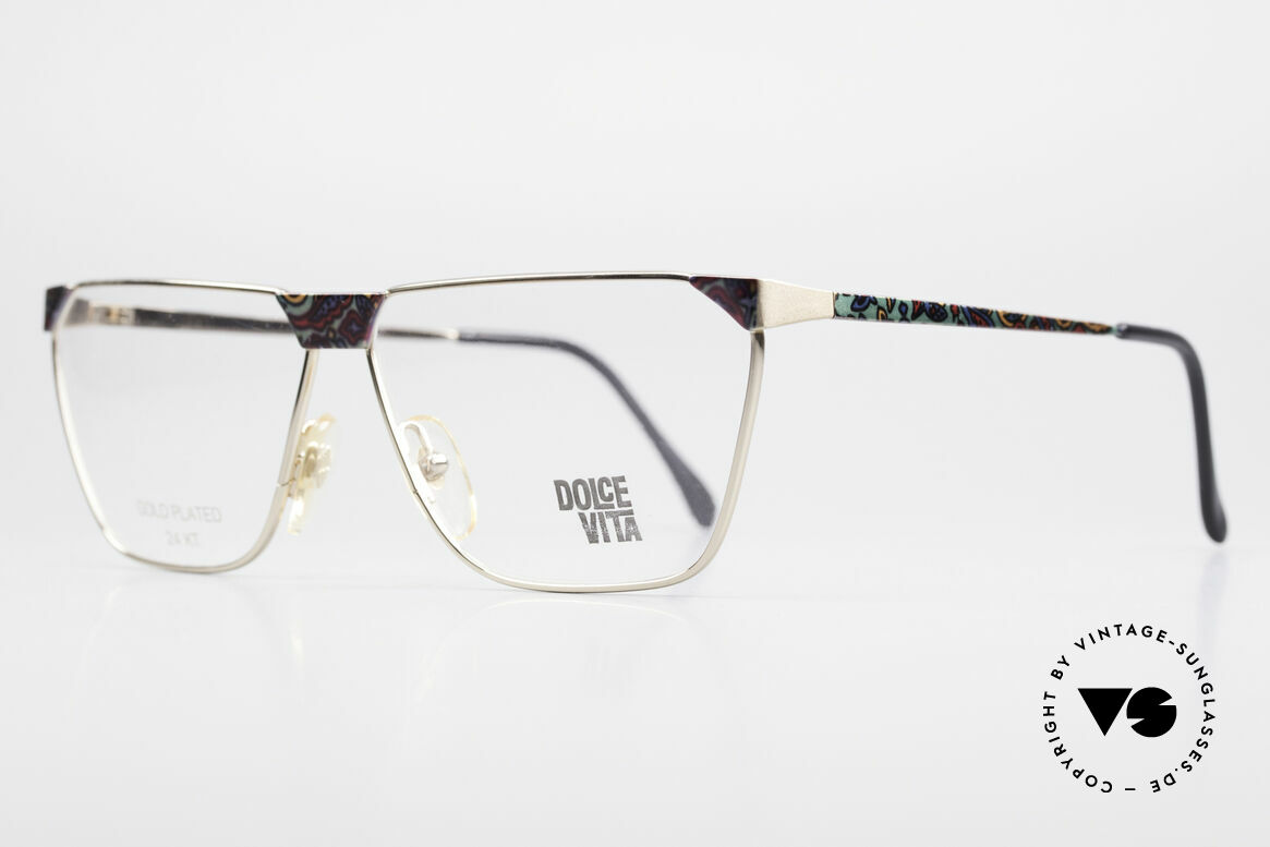 Casanova NM22 Dolce Vita 24kt Eyeglasses, multicolored pattern on the front & on the temples, Made for Men and Women