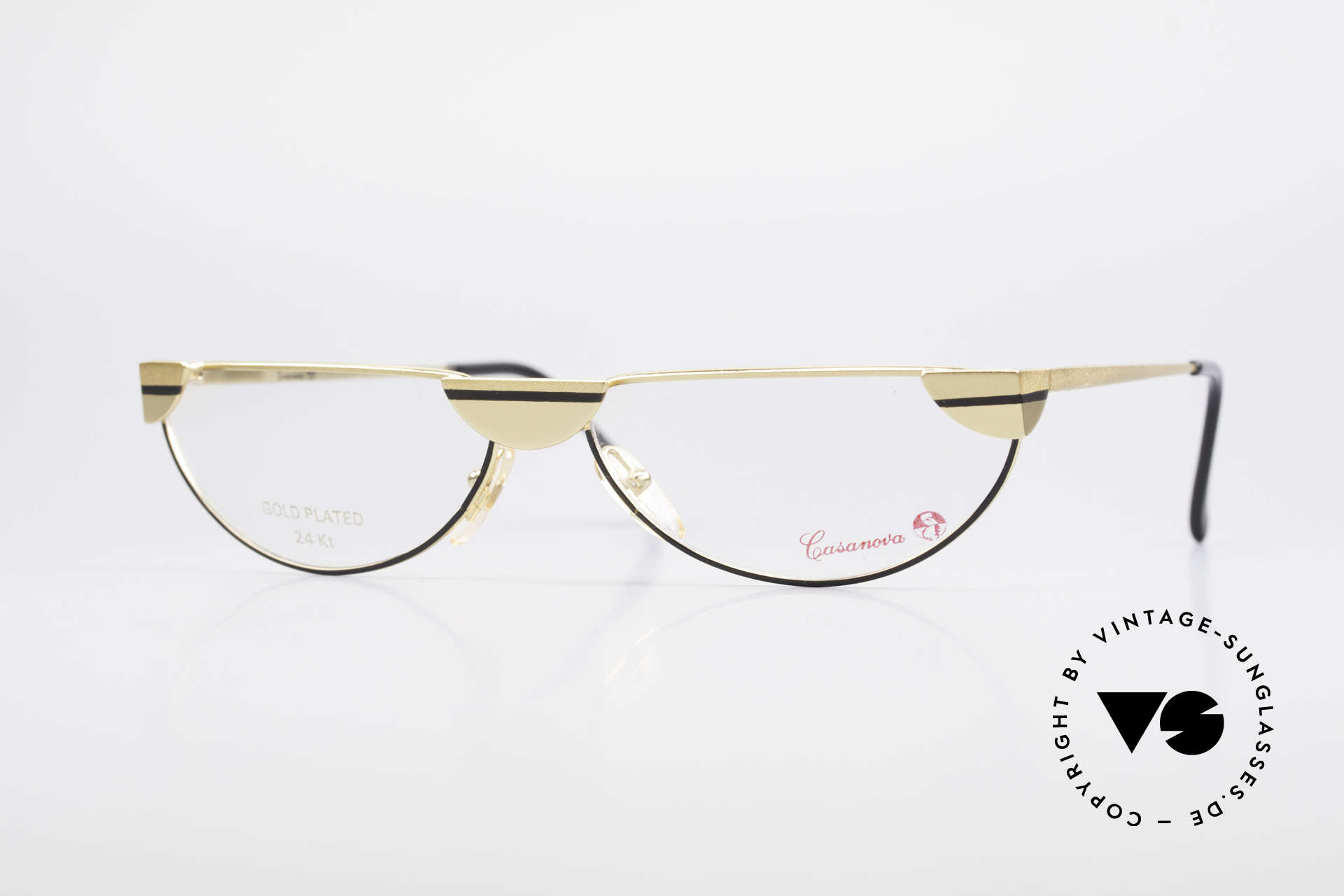 Casanova NM5 Gold Plated Reading Glasses, glamorous Casanova reading glasses from around 1985, Made for Men and Women