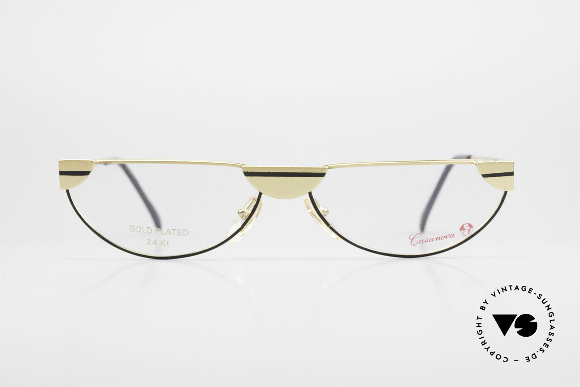 Casanova NM5 Gold Plated Reading Glasses, distinctive Venetian design in style of the 18th century, Made for Men and Women