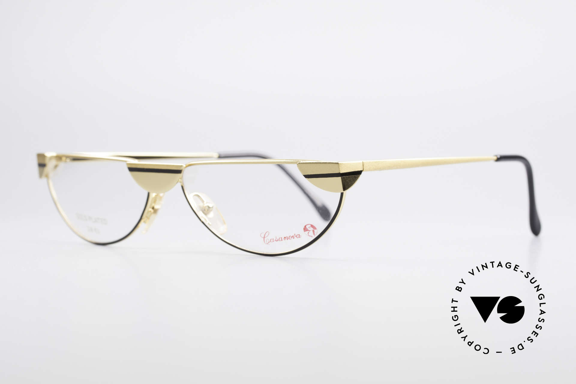 Casanova NM5 Gold Plated Reading Glasses, at the time of the Italian writer Giacomo G. Casanova, Made for Men and Women