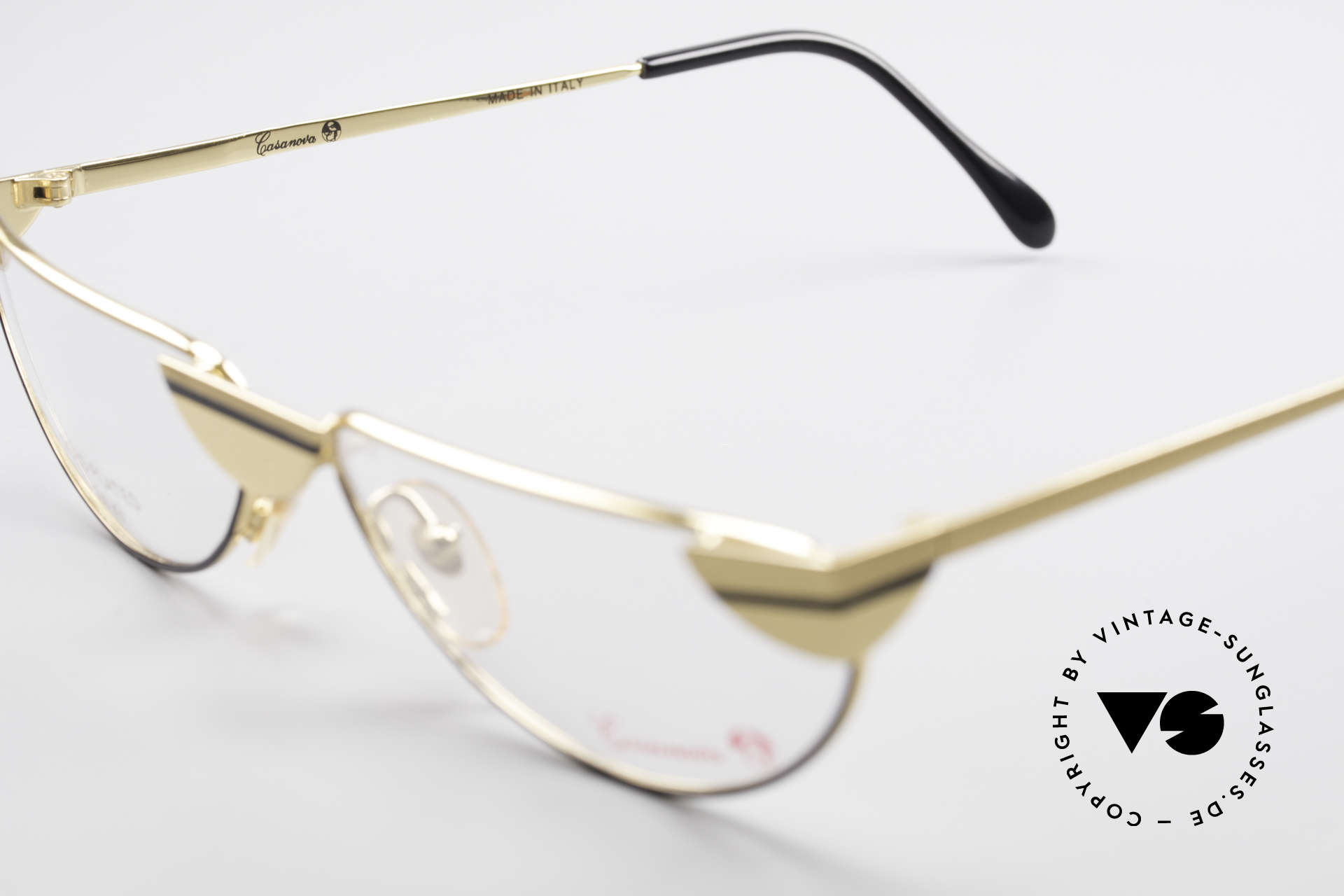 Casanova NM5 Gold Plated Reading Glasses, NOS - unworn (like all our artistic vintage eyeglasses), Made for Men and Women