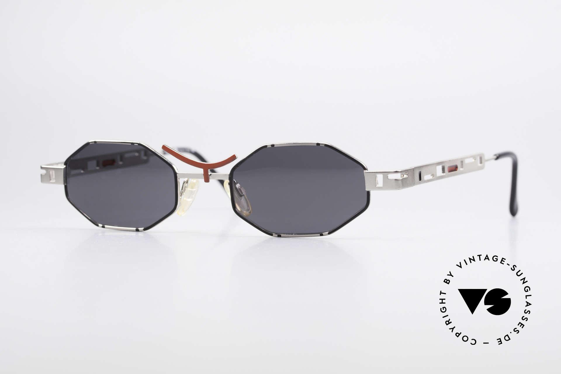 Casanova CLC2 Industrial Steampunk Shades, very interesting vintage 80's sunglasses by CASANOVA, Made for Men and Women