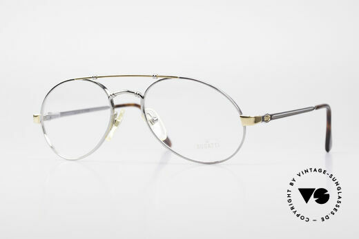 Bugatti 18526 Men's 80's Luxury Eyeglasses Details