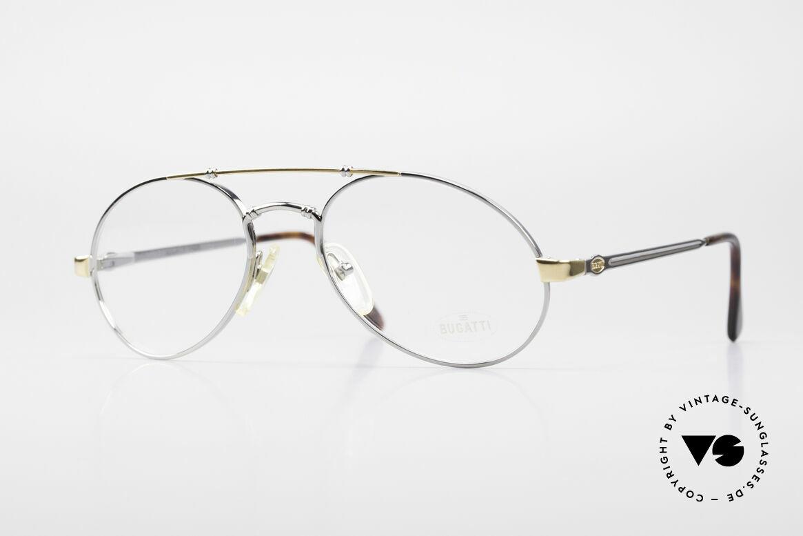 Bugatti 18526 Men's 80's Luxury Eyeglasses, very elegant designer eyeglass-frame by BUGATTI, Made for Men