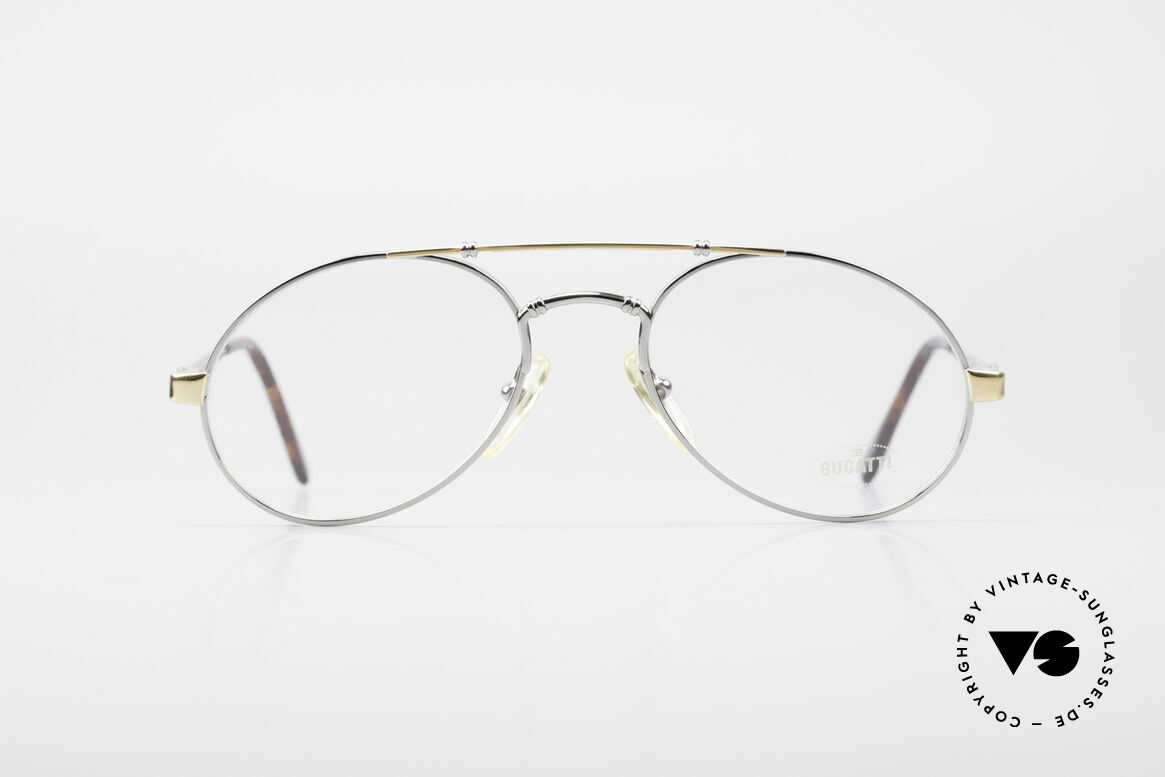 Bugatti 18526 Men's 80's Luxury Eyeglasses, legendary 'tear drop' design by Bugatti of the 80s, Made for Men