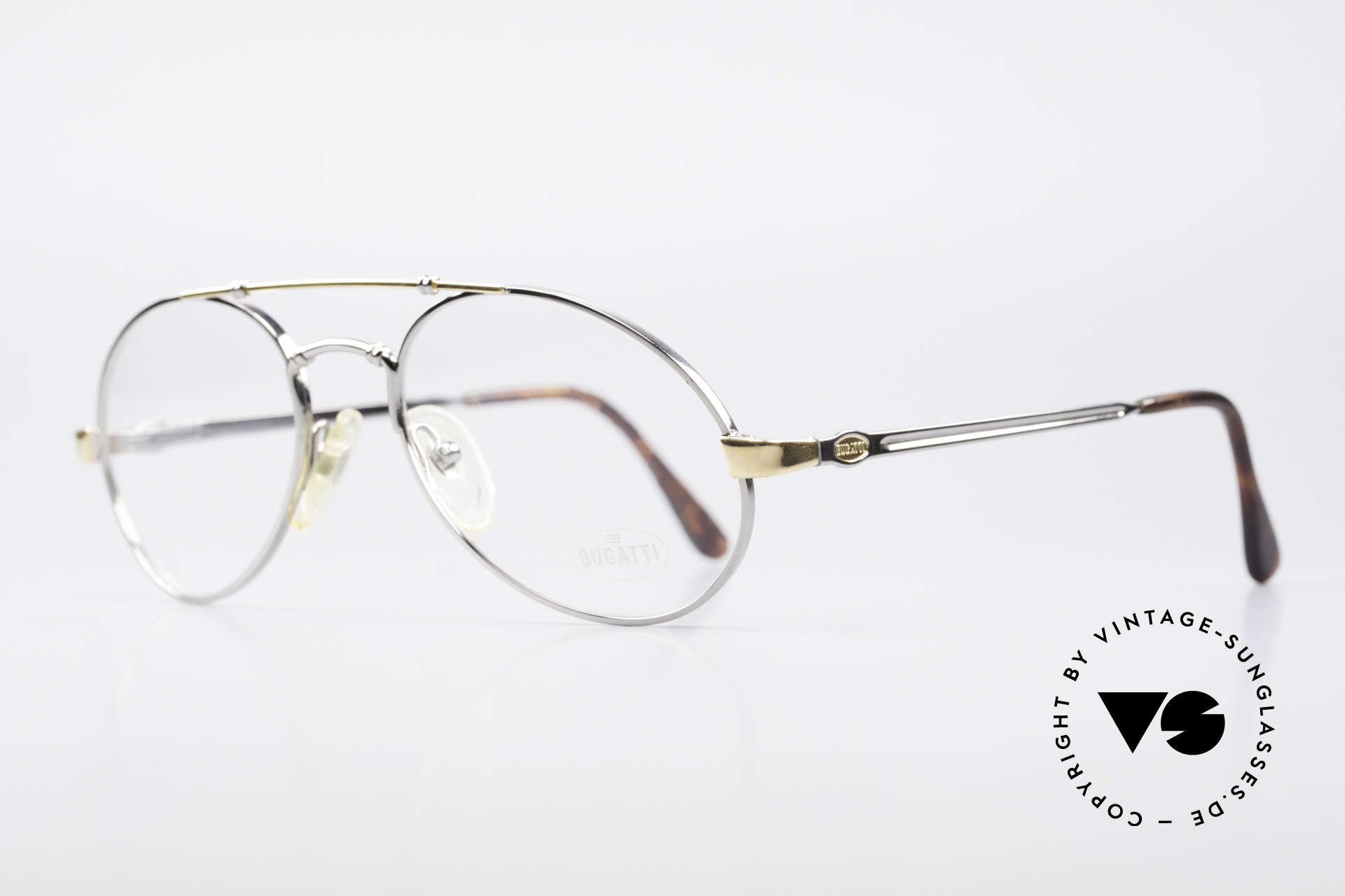 Bugatti 18526 Men's 80's Luxury Eyeglasses, flexible spring temples & top-notch craftmanship, Made for Men
