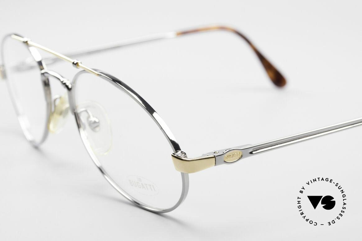 Bugatti 18526 Men's 80's Luxury Eyeglasses, very noble frame finish in titanium / gold-plated, Made for Men