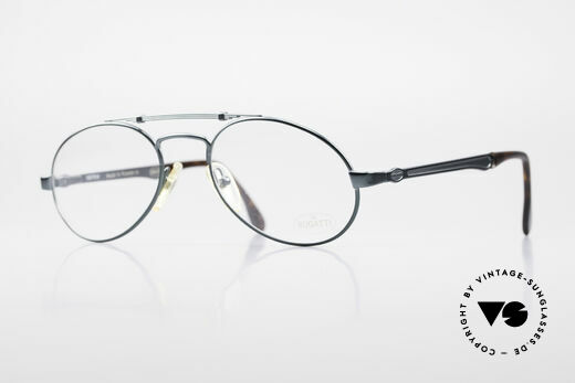 Bugatti 16918 Luxury 80's Eyeglass-Frame Details