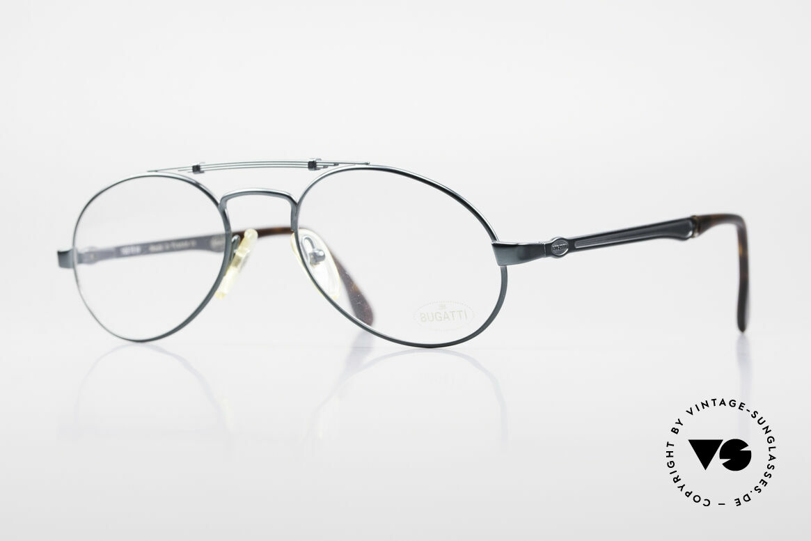 Bugatti 16918 Luxury 80's Eyeglass-Frame, sophisticated Bugatti luxury eyeglasses of the 80s, Made for Men