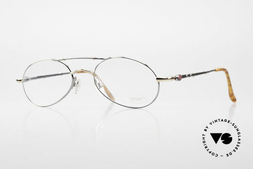Bugatti 09992 Men's 90's Vintage Eyeglasses Details