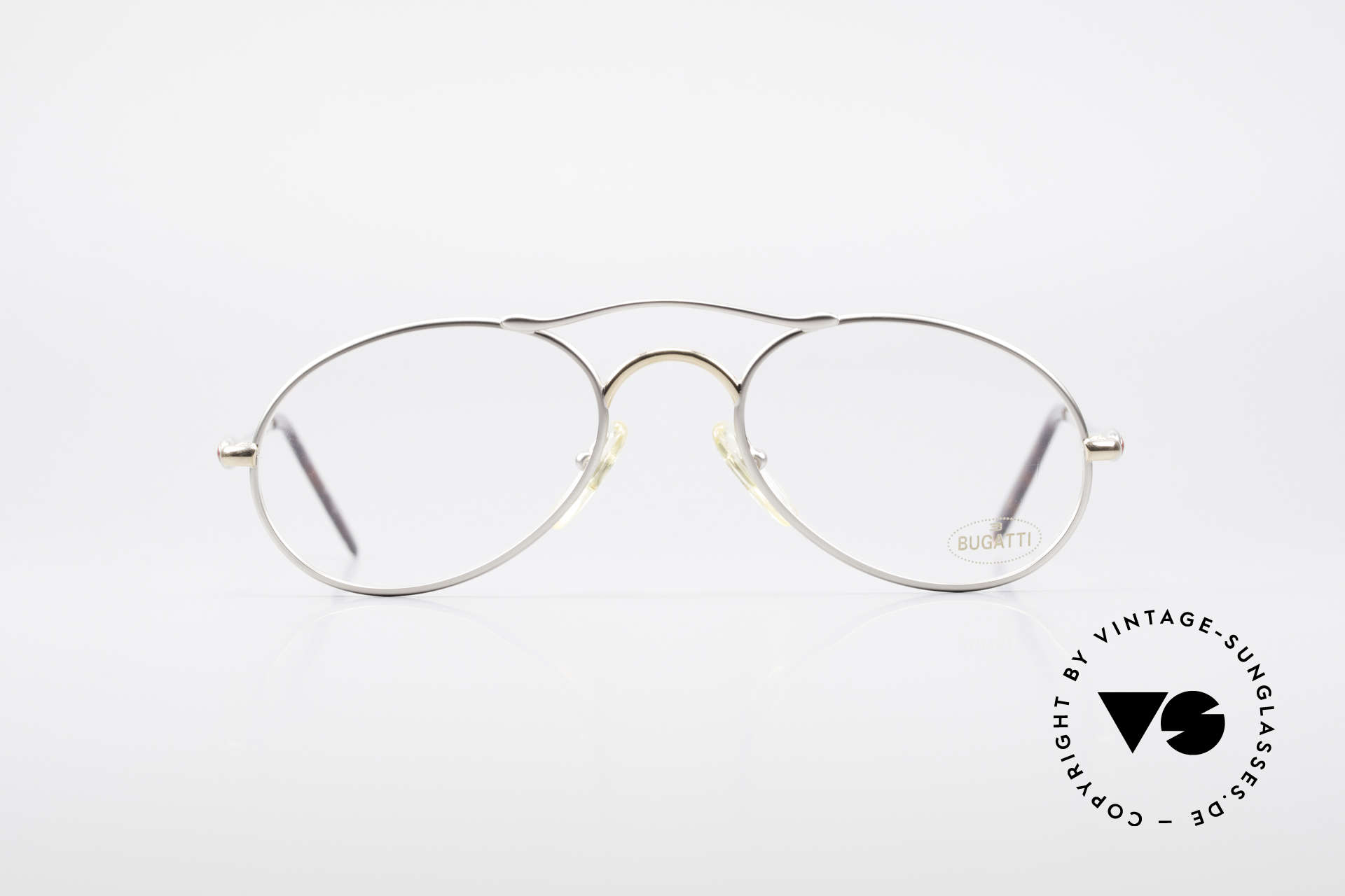 Bugatti 23439 Vintage Glasses With Clip On, made in the mid 90's in France (premium quality), Made for Men