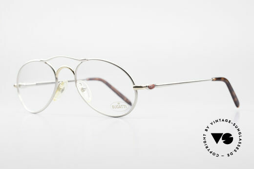 Bugatti 23439 Vintage Glasses With Clip On, metal frame can be glazed with lenses of any kind, Made for Men