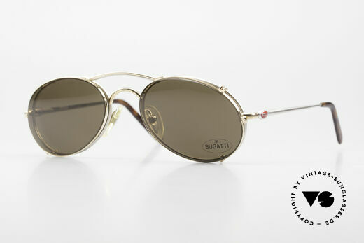 Bugatti 23439 Vintage Glasses With Clip On Details