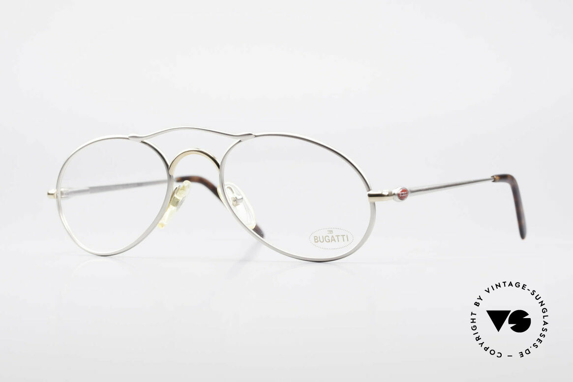 Bugatti 23439 Vintage Glasses With Clip On, Size: medium, Made for Men