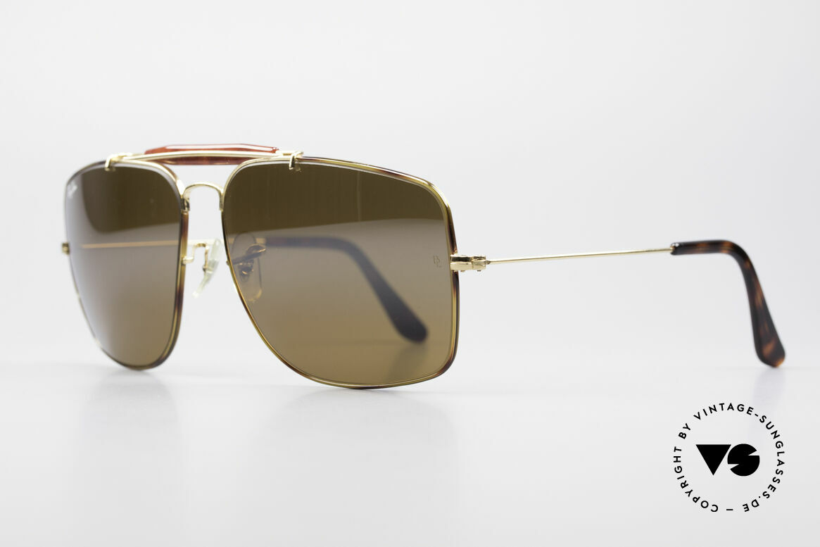 Ray Ban Explorer Large Tortuga Frame Brown Mirrored, Tortuga Edition with brown-mirrored B&L lens, Made for Men