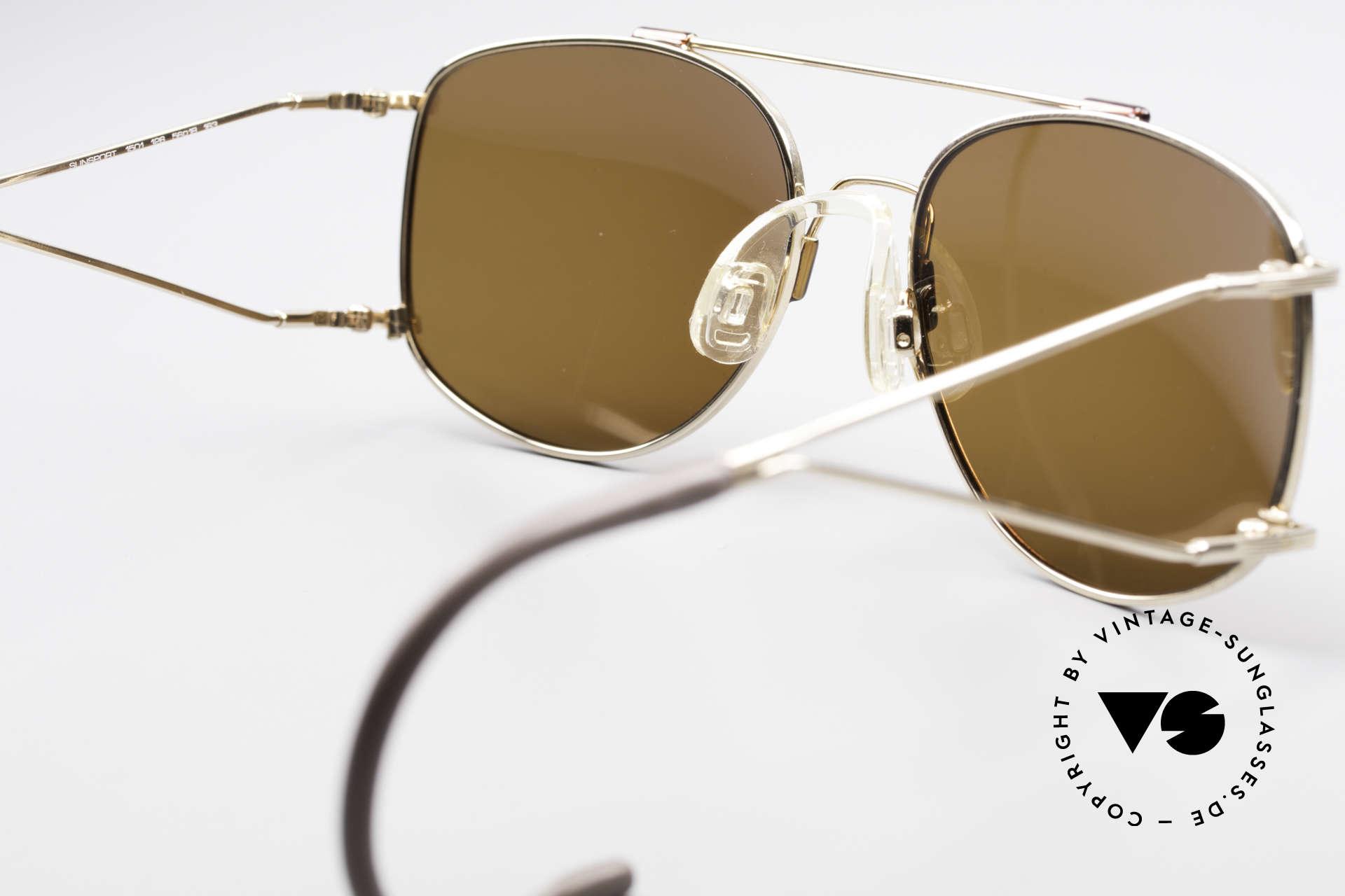 Neostyle Sunsport 1501 Titanflex Vintage Sunglasses, an unworn 1990's ORIGINAL with vintage hard case, Made for Men