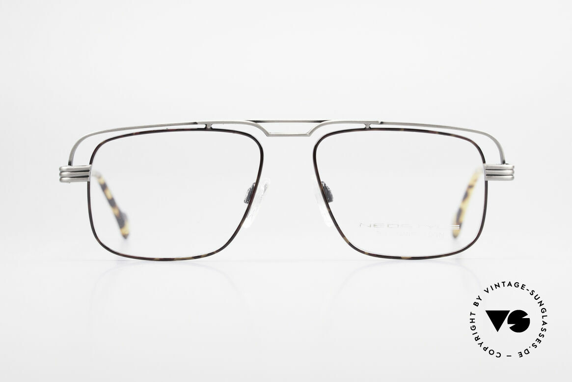 Neostyle Jet 230 80's Vintage No Retro Glasses, interesting frame construction: a true eye-catcher, Made for Men