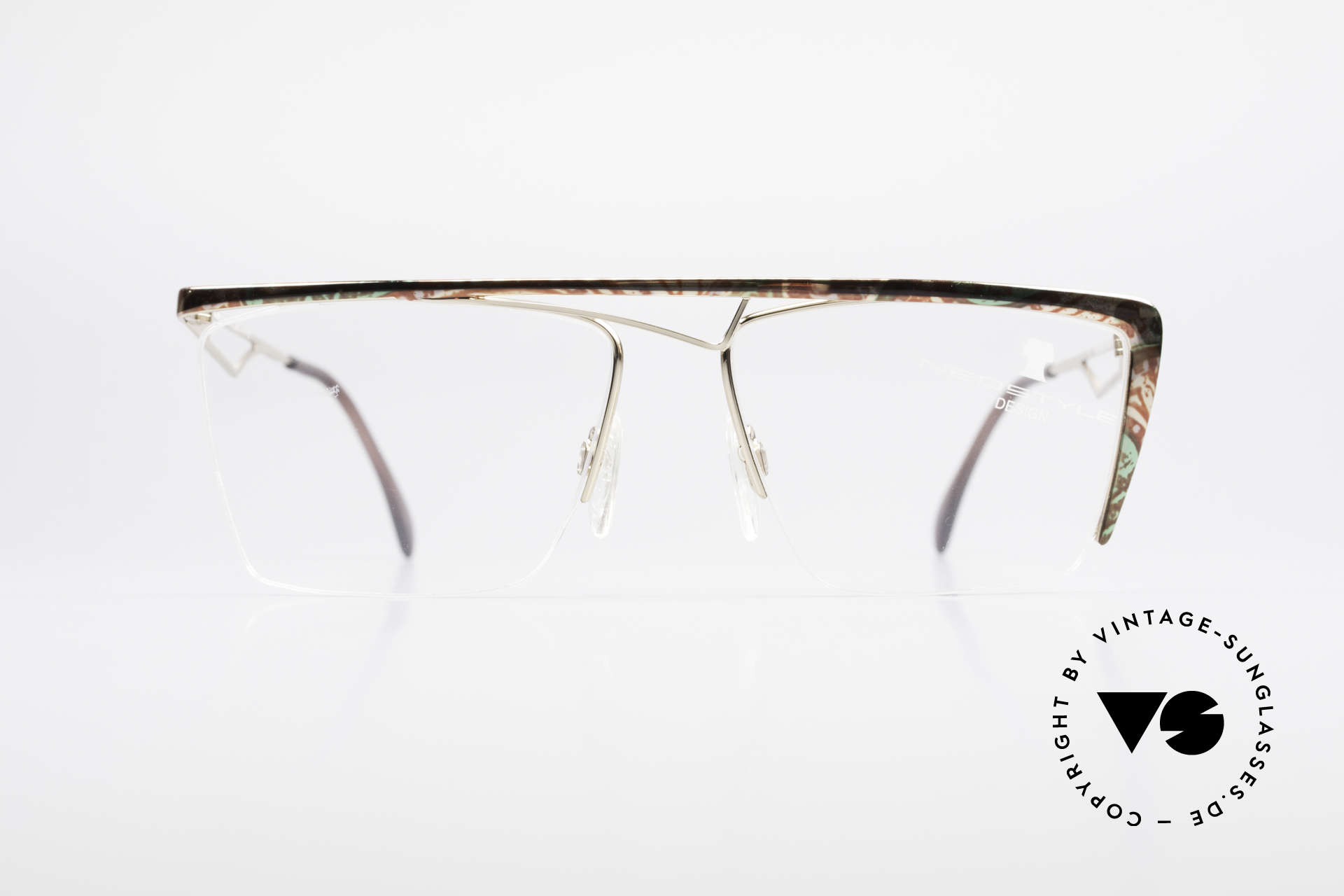 Neostyle Jet 201 Vintage 80's Nylor Frame, lenses are fixed with a nylor thread (half frame), Made for Men and Women