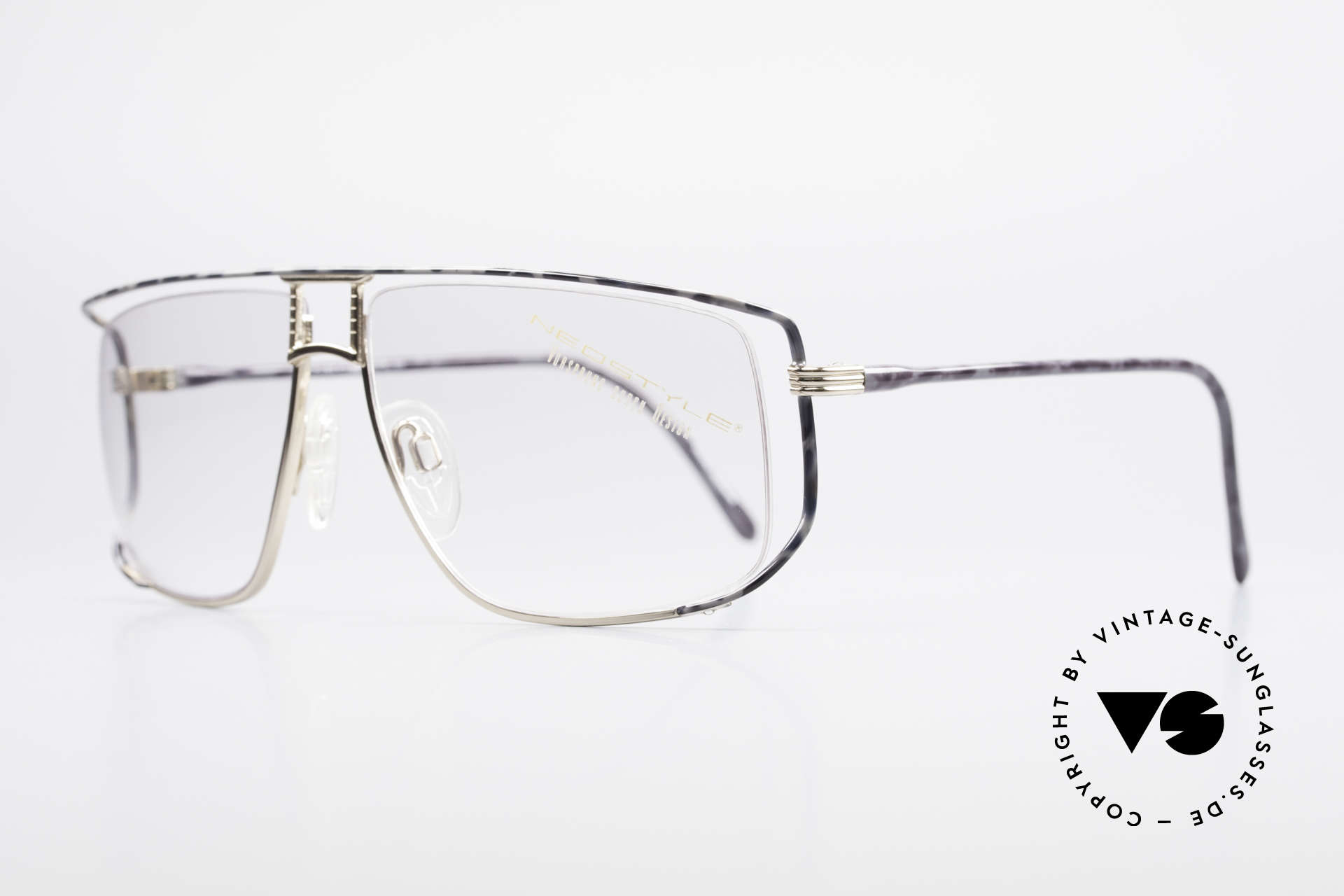 Neostyle Jet 30 Small True Vintage No Retro Frame, half rimless (nylor thread) for 1. class wearing comfort, Made for Men and Women